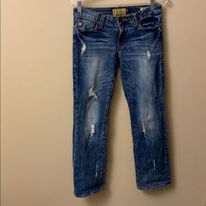 Dear John playback straight distressed jeans 26